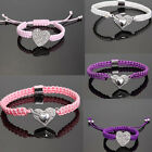 Shamballa Crystal Heart Magnet Clasp Friendship Beaded Collection Bracelet Gift