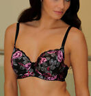 Brand New Range Pour Moi Rose Garden Balcony Underwired Bra Purple 32-40 DD to G