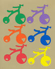 Your choice of colors on Tricycles #1 Die Cuts - AccuCut