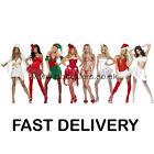 Sexy Santa Elf Angel Womens Christmas Costume Size 8-18 Adult FAST DELIVERY
