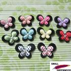 "(U Pick) 50 Pcs 1-3/8"" Padded Felt 2-Layer Butterfly Appliques B0830"