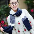 Autumn and Winter Wool Scarf Imitation Cashmere Thermal Knitting Scarf  Shawl