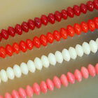 "3x5mm Coral Rondelle Gemstone Beads 16"" Strand Pick Color"