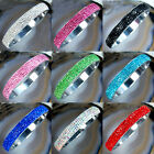 9 Color Crystal Rhinestone Stainless Steel Bracelets 3 inch Pick Color