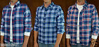 NWT Hollister HCO by Abercrombie A&F Mens Plaid FLannel Shirt Long Sleeve Button