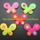 "(U Pick) Wholesale 50-300 Pcs. 1-3/4"" Felt Butterfly With Flower Appliques B0600"