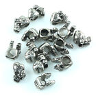 Lots Big Hole Silvery Carved LOVE MOM Girl Hug Charm European Beads Fit Bracelet