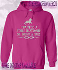 HORSE HOODIE Equestrian HOODIE funny slogan i wanted a stable relationship