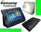 LEATHER FOLIO CARRY COVER CASE with SMART STAND for SAMSUNG TABLET models