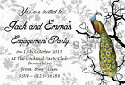 Personalised Engagement Party Invitations Invites Peacock E23