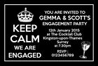 Personalised Engagement Party Invitations Invites Keep Calm E29