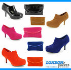 LADIES WOMENS SHOE BOOTS BOOTIES EVENING CASUAL PARTY SIZES MATCHING CLUTCH BAG