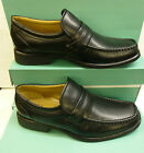 """SALE: Clarks Black Leather Slip-on Shoes """"HANDLE WORK"""" G-Fitting"""