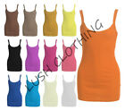 72A-LADIES WOMENS GIRLS RIBBED VEST TOP T-SHIRT SINGLET-SIZE 8-14-BNWT
