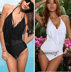 s9 Padded Fringes Swimsuit Swimwear Monokini Bikini UK 6-16 XS-XL