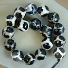 Faceted Black Tibetan Mystical Old Agate Spherical Beads 8,10,12,14mm Pick Size