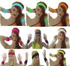 Neon Sweatband HEADBAND/ WRISTBANDS  80'S FANCY DRESS TUTU PARTY