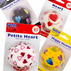 PME HEART Cupcake/Bun Cases -Pack of 60- Valentines/Mothers Cake Day Decorating