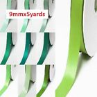 """DoubLe Faced Satin Ribbon 1/2"""" / 13mm. Wedding By 5 Yards,Lime to green for bow"""