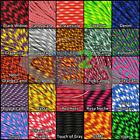 550 Paracord Type III 7 Strand parachute cord 10 20 50 100 foot hanks Made in US