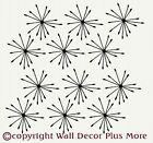 Flower Spike Sticker Wall Vinyl Decal Girls Room 12pc NEW Starburst Removable