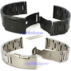 New 18~24 mm Solid Stainless Steel Bracelets Strap Deployment Buckle Watch Band