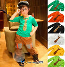 Autumn Spring Boys Baby Child Kids Leopard Tie Long Sleeve Slim Cut T-Shirt 2-7Y