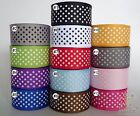 "7/8""22mm Mixed Swiss Dot Grossgrain Ribbon Lot 2 Yard 10 Yard 100 Yard Wholesale"