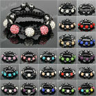5x 10mm Crystal Rhinestones Disco Ball/Bead For Children Gift Shamballa Bracelet
