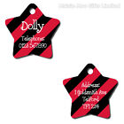 Personalised Metal Pet Dog Cat Double Sided Star Address Phone Number ID Tag