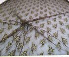 Discount Fabric Organza Mesh Lace Dark Brown Green Floral 147LC