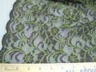 Discount Fabric Organza Mesh Lace Espresso - green abstrac 131LC