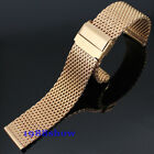 New Luxury 20 22 mm Stainless Steel Rose Gold Mesh Bracelets Watch Strap Band