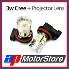 2 X Led 10 5050 Smd + 3W Cree Projector Lens - Xenon Headlight Fog Light Bulbs