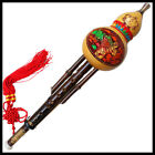 Handmade Chinese Yunan Ethnic Gourd Flute, Bamboo 3 Octaves Hulusi, Hand Carved