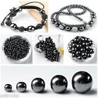 35-100pcs 4-12mm Black Magnetic Hematite Loose Spacer Beads Jewelry Making DIY