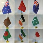 ASIAN & AUSTRALIA Table Desk Top Flag -THAILAND NEW ZEALAND PAKISTAN INDIA.. .