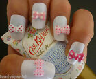 3D Nail Art Bows Pink Kawaii Kitsch Style 3D Nail Art Decoration 20 Pieces