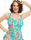 Full-Filled Hawaii Floral Tankini Top with Build-in Bra  r.r.p £42