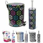 Home Collections Waste Bin & Toilet Brush Set - In 4 Styles