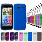 Hexagon/ Frosted Silicone Gel Case for HTC Sensation XE+Screen Film+Mini Stylus