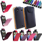 PU Leather Flip Case Cover for HTC Sensation/Legend Free Screen Film+Mini Stylus