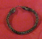 "Artisan Vintage Bronze unisex chain Anklet 6"" - 11"" by Marie USA #249"