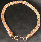 """Copper Non Tarnish Artisan unisex anklet by Marie 6"""" - 11"""" by Marie #410"""