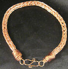 "Copper Non Tarnish Artisan unisex anklet by Marie 6"" - 11"" by Marie #410"