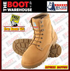 Steel Blue 'Argyle' 312102 Work Boots In Wheat. Steel Toe Cap Safety. Lace up.