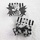 Mud Pie Baby Girl Tres Jolie Cute Black and White Hair Bows Sold Separate 167108