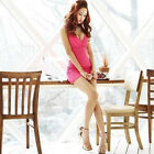 Sexy Women V-Neck Low Cut Sleeveless Slim Cocktail Night Club Party Mini Dress