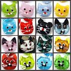 4 Lampwork Handmade Glass Cat Head Beads - choose color