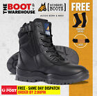 Mongrel 251020 Work Boots. Steel Toe Safety. Black Hi-Leg Zip Sider. Brand New.